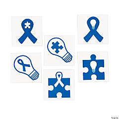 Blue Autism Awareness Tattoos