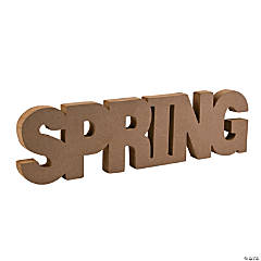 "DIY Unfinished Wood ""Spring"" Letters"