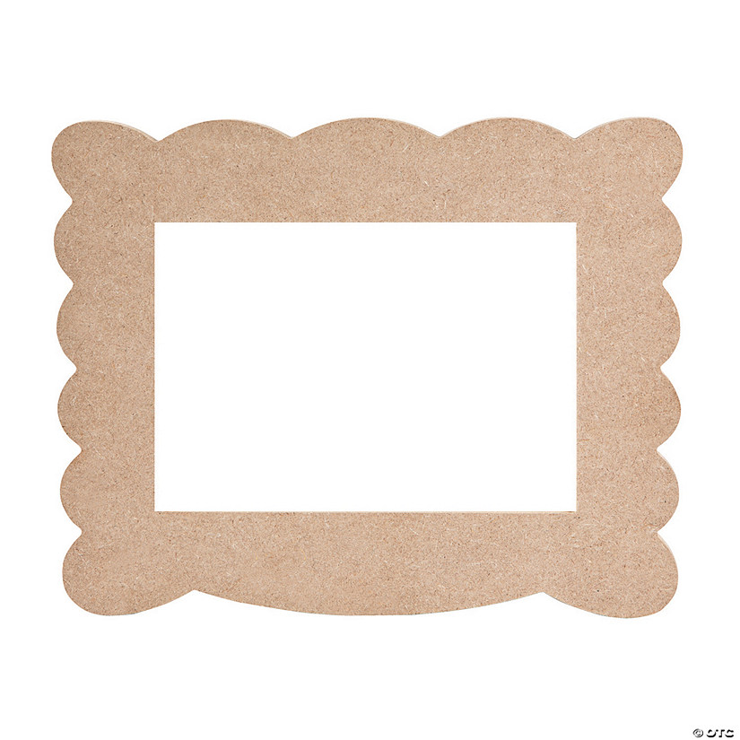 DIY Unfinished Wood Scalloped Frame - Discontinued