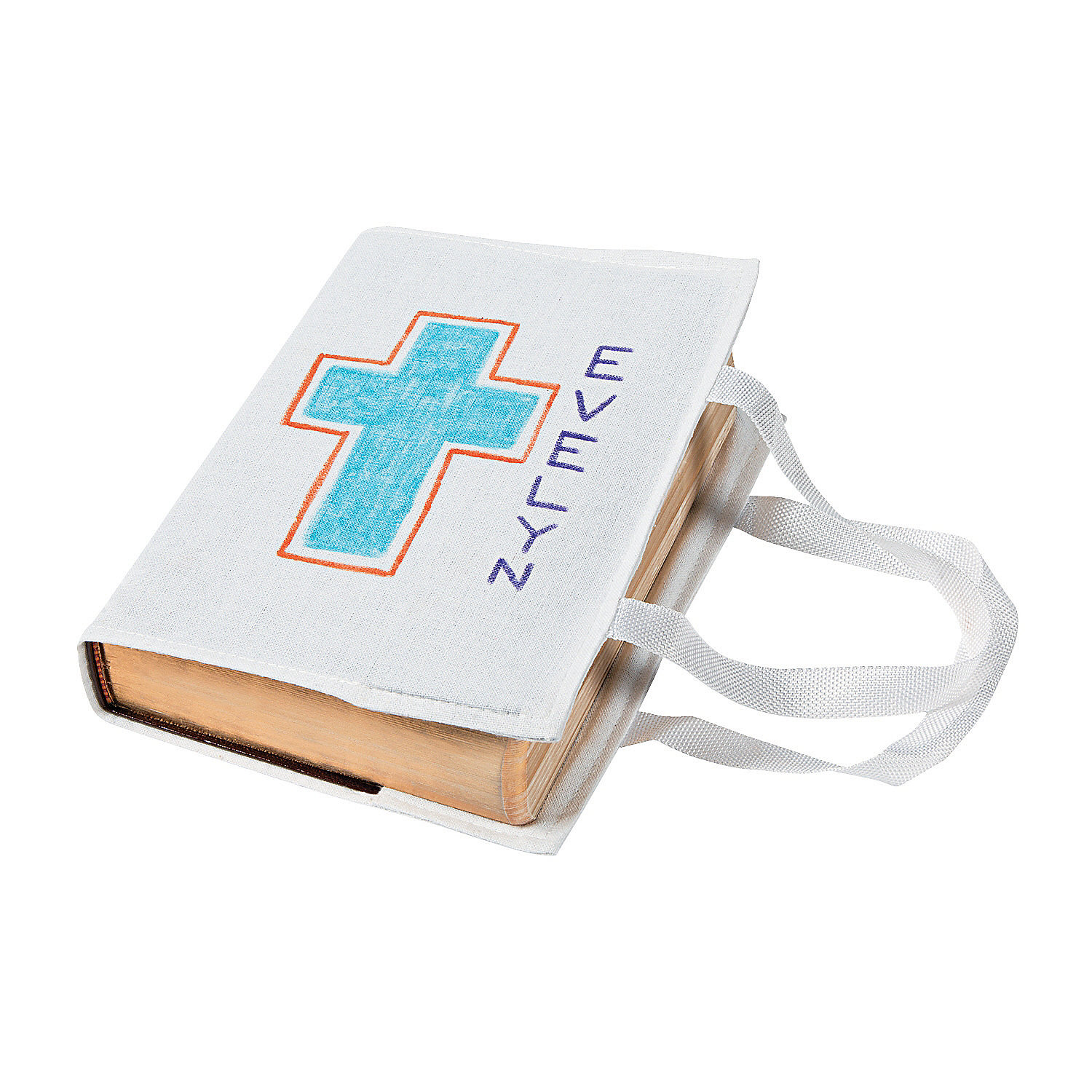 Diy white canvas bible bags diy crafts crafts for kids for Craft and hobby supplies