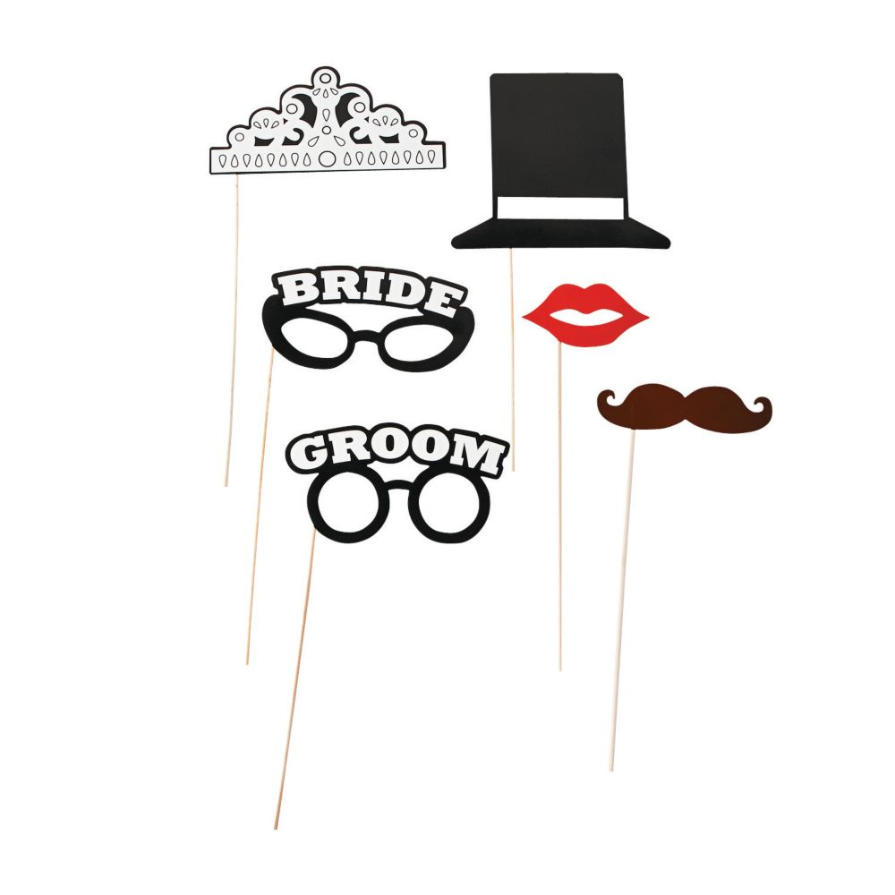 Bride & Groom Stick Props