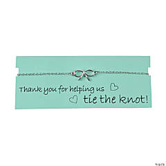 Metal Tie the Knot Thank You Bracelet