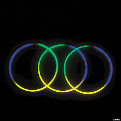 Mardi Gras Tri-Color Glow Necklaces