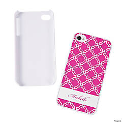 Pink Modern Personalized iPhone® 4/4S Case