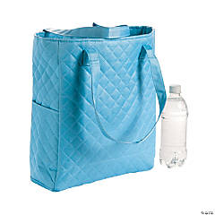 Personalized Light Blue Quilted Tote