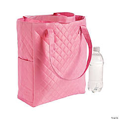 Personalized Light Pink Quilted Tote
