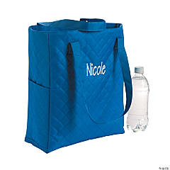 Personalized Quilted Blue Totes