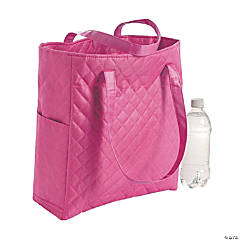 Personalized Hot Pink Quilted Tote