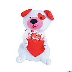 Plush Valentine Dog with Candy