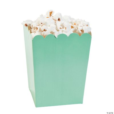Mini Mint Green Popcorn Boxes