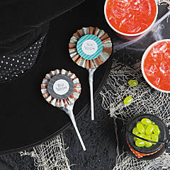 Halloween Sucker Rosettes Idea