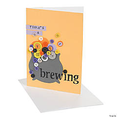 """Party Brewing"" Halloween Invitation"