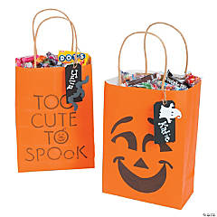 """Too Cute To Spook"" Treat Bags Idea"