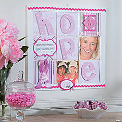 Pink Ribbon Tile Board Idea