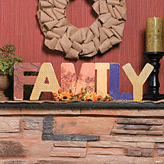 "Fall ""Family"" Decoration Idea"
