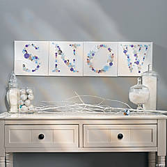 """Snow"" Canvases Idea"