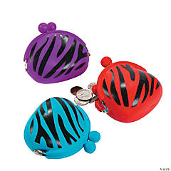 Rubber Animal Print Coin Purses