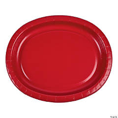 Classic Red Oval Plates