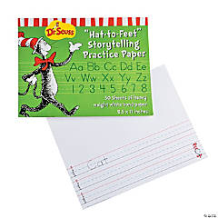 "Dr. Seuss™ the Cat in the Hat™ ""Hat-To-Feet"" Storytelling Practice Paper"