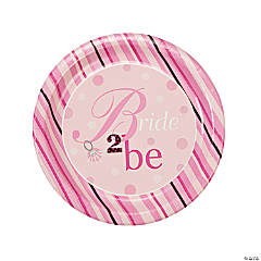 Bride 2 Be Dots Dinner Plates