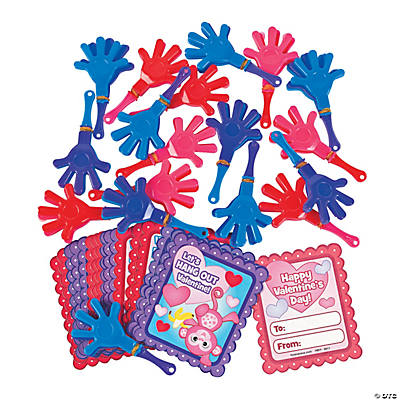 Valentine Hand Clapper Fun Favors With Cards