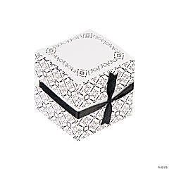 Black & White Ribbon Weave Gift Boxes