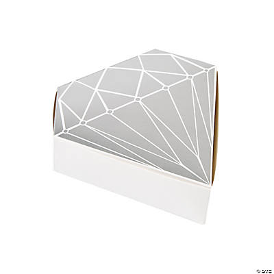 Diamond-Shaped Foil Favor Boxes