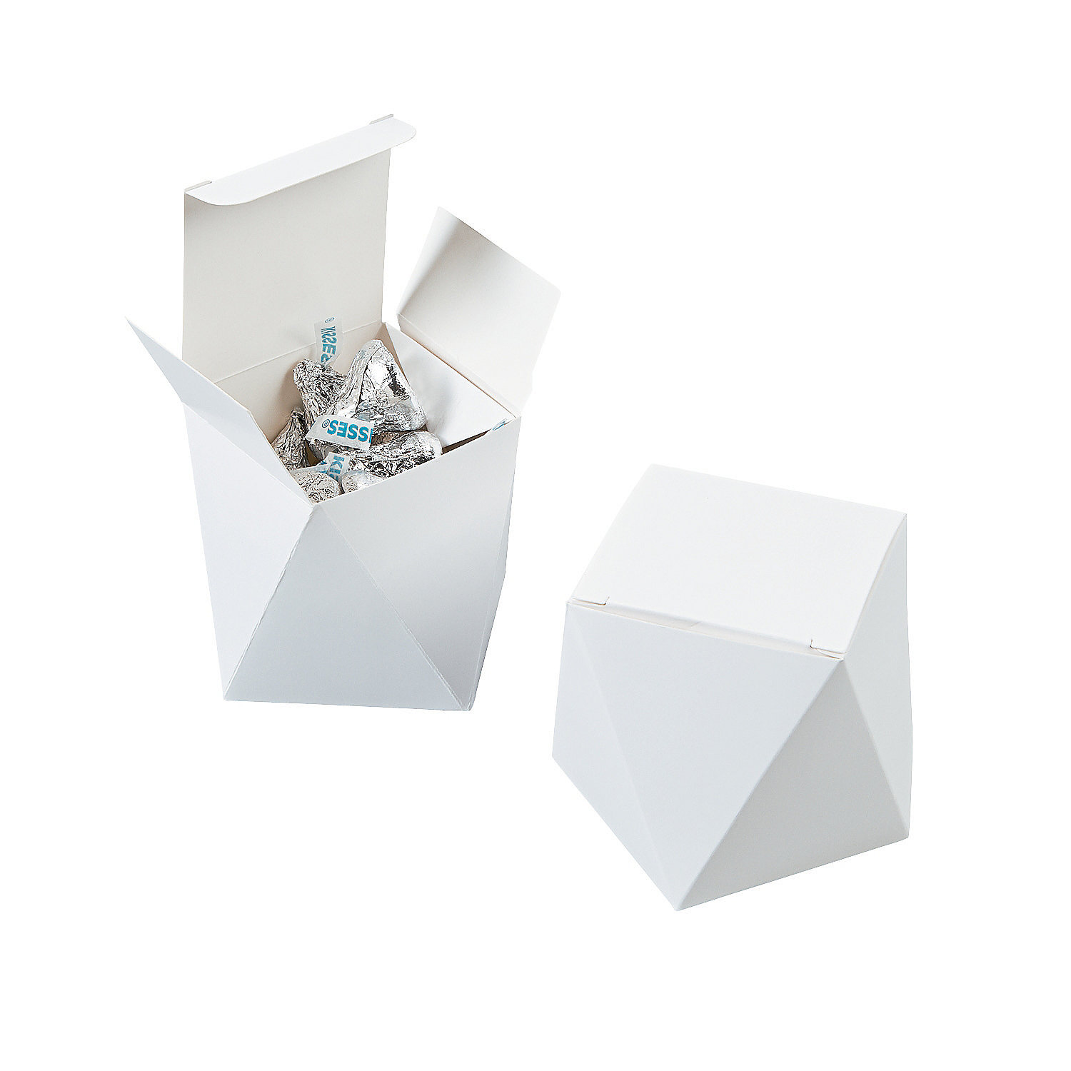 Wedding Favor Boxes White : White wedding favor boxes paper party bags