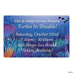 Personalized Under the Sea Save the Date Magnets