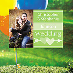 Lime Green Wedding Custom Photo Yard Sign