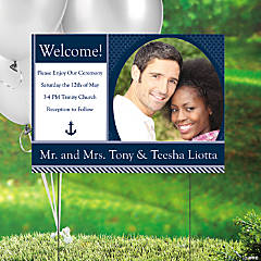 Nautical Wedding Custom Photo Yard Sign