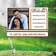 Love Bird Wedding Custom Photo Yard Sign