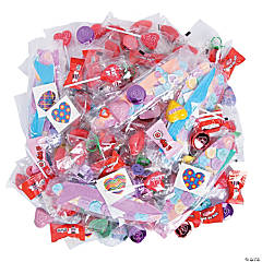 Valentine Candy and Toy Assortment