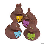 Vinyl Chocolate Easter Bunny Rubber Duckies