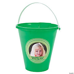 Green Custom Photo Sand Buckets