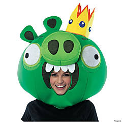 Adult Angry Birds King Pig Green Mask