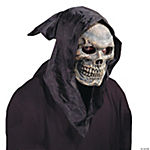 Skull Hooded Flexible Face Halloween Mask for Adults