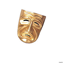 Gold Tragedy Mask for Adults