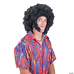 Afro Wig with Sideburns