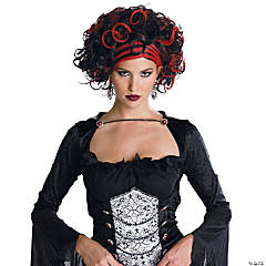 Wicked Widow Wig Black/Red