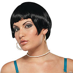 Fresh Flapper Black Wig