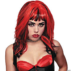 Hard Rockin Witch Black & Red Wig