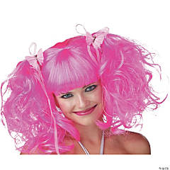 Pink Rose Pixie Wig