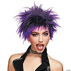 Purple Punker Chick Wig