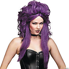 Sorceress Black & Purple Wig