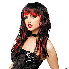 Temptress Black & Red Wig