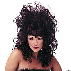 Vampiress Black Burgundy Wig