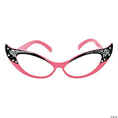 Vintage Pink Cat Eye Glasses