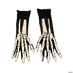 Long Skeleton Gloves for Adults