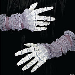 Latex Ghostly Bone Hands With Gauze